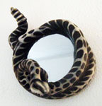 Rattlesnake Skeleton Mirror