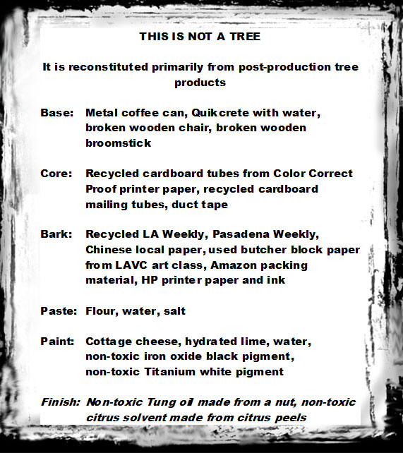 This is Not a Tree (Ingredients)
