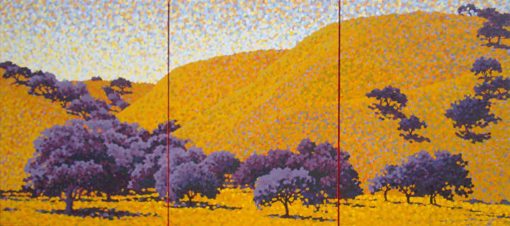 Oak Trees Triptych 4 by Barbara J Carter
