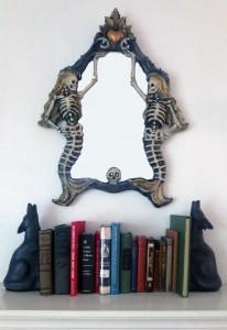 Mermaid Mirror on Mantel