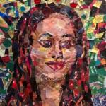 Paper Mosaic Bling at Barnsdall Arts